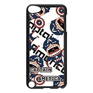 Captain America, Personalized Protective Back Cover Case For ipod touch 5 Plastic