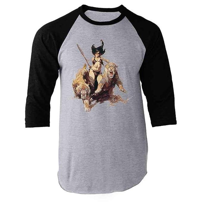 TM HAZARD 4 Huntress Cotton T-Shirt by Frank Frazetta