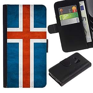 """Be-Star la tarjeta de Cr¨¦dito Slots PU Funda de cuero Monedero caso cubierta de piel ParaSamsung Galaxy S3 MINI i8190 (NOT S3) ( Bandera nacional de la Serie-Islandia"""" )"""