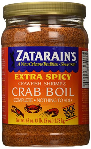 Throw a Seafood Boil Party with some Zatarain's Extra Spicy Crawfish, Shrimp & Crab Boil 63 oz
