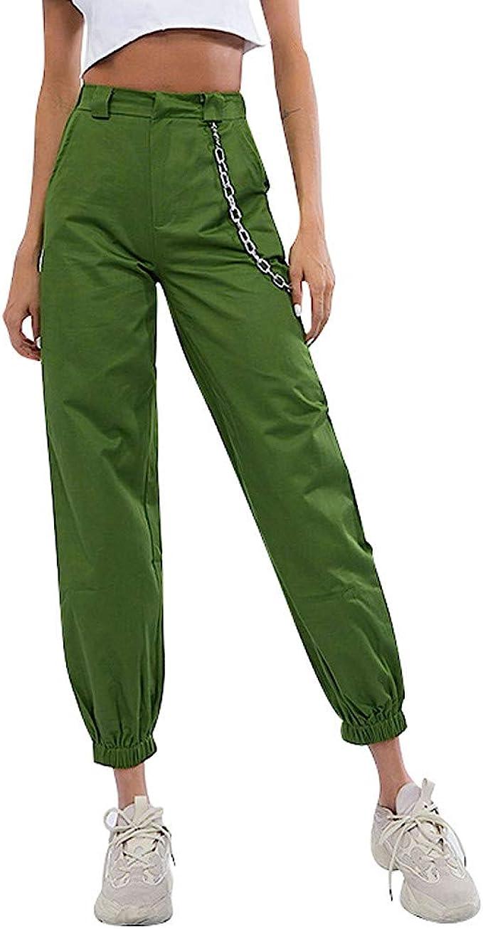 friendGG - Pantalones largos de mujer Baggy Hip Hop Harem Pants ...