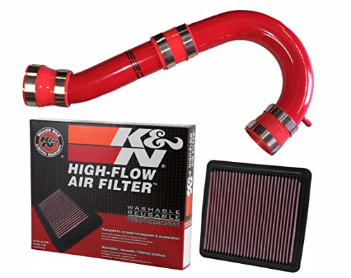 Fits 2017 Subaru Forester 2.5 Liter NON-Turbo K&N / SSD Performance Cold Air Intake Kit (CAI), Red Powder Coat