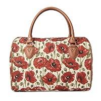 Signare Womens Tapestry Fashion Weekend Handbag Travel Bag Poppy Design