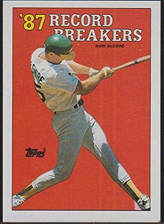 1988 Topps Mark Mcgwire As 87 Record Breaker Baseball Card 3 At