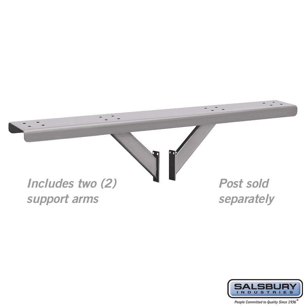 Roadside Mailbox Spreader, 4 Wide, Silver by Salsbury Industries