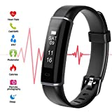Riocean Fitness Tracker HR, Slim Smart Band Watch with Heart Rate Monitor, Waterproof Activity Tracker with Sleep Monitor, Calorie Counter, Step Counter for Kids Women Men, Android & iOS