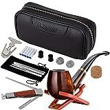 Scotte Luxury Tobacco Smoking Pipe Set,Leather