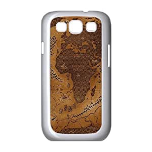 Samsung Galaxy S3 9300 Cell Phone Case White_pamdlrow center map art Drvei