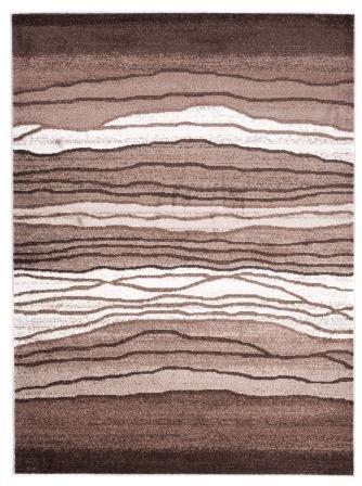 Designer Teppich Für Ihre Wohnzimmer Schlafzimmer Esszimmer   Braun Weiß    140 X 190 Cm