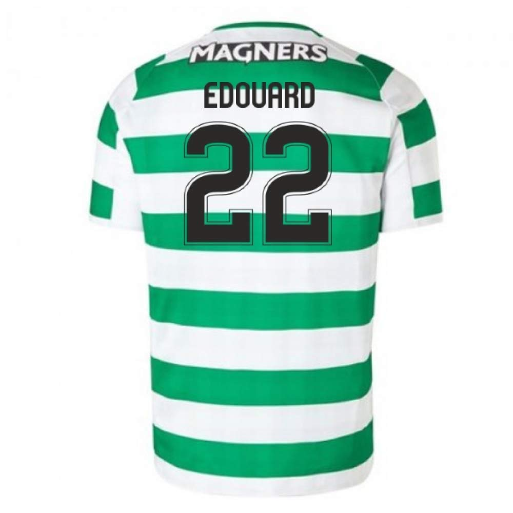 2018-2019 Celtic Home Football Soccer T-Shirt Trikot (Odsonne Edouard 22)