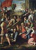 28 in ch tv - Oil Painting 'Raphael Caida En El Camino Del Calvario O El Pasmo De Sicilia Ca. 1516' 20 x 28 inch / 51 x 70 cm , on High Definition HD canvas prints, gifts for Garage, Laundry Room And Nurser decor