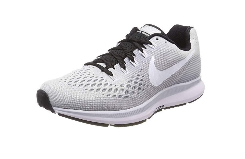 Nike Womens Air Zoom Pegasus 34 Running Shoe (5 M US, Pure Platinum/White-Black)