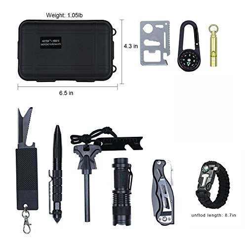 Survival-Gear-Kit-11-in-1-Professional-Outdoor-Emergency-Survival-Tools-with-Saber-Card-Survival-Bracelet-Temperature-Compass-Powerful-Whistle-for-Camp-Hike-Earthquake-Overseas