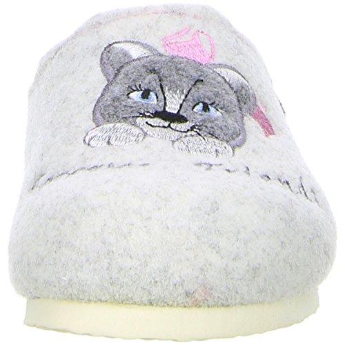 TOFEE Mädchen Hausschuhe (Katze) weiß Weiß