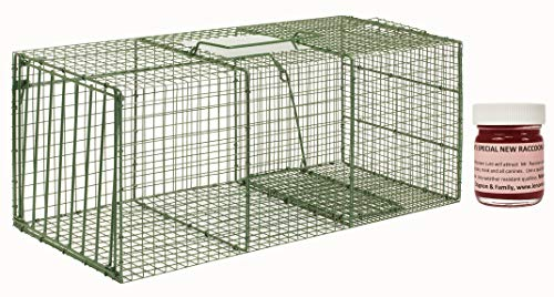 Trap Standard Door - HD XL Cage Trap Model 1114 Standard Single Door Cage Trap with 1 oz Lenon Lure's Special Raccoon #2 Included