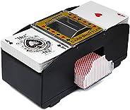 LMTXXS Automatic Card Shuffler, Electronic Poker Shuffler, Card Game Tool, One/Two Decks of Card Shuffler, Use