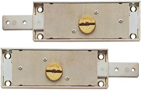 Cerraduras laterales empotradas para persiana, art. 0733.0 con pestillo de un paso. Caja de 155 x 55 mm.: Amazon.es: Bricolaje y herramientas