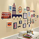 ALUS- British Wind Photo Wall Frame Wall Living Room Bedroom European Children Photo Wall Wall Frame Combination ( Color : #3 )