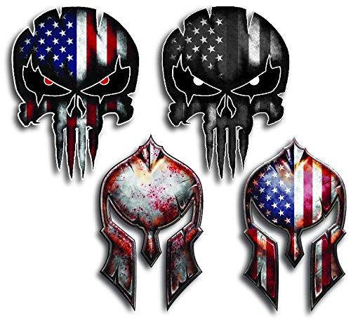 Variety Spartan Helmet Punisher Sticker product image