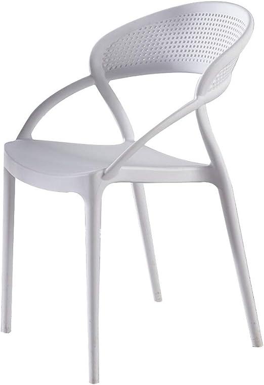 Sillas de jardín de plástico, sillas de jardín plegables, restaurante de estilo nórdico, silla de plástico, moderno, moderno, adulto, creativo, red, grueso, rojo, silla de comedor, silla de escritorio: Amazon.es: Hogar