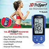 3DTriSport Walking 3D Pedometer with Clip and