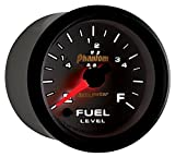 Auto Meter 7510 Phantom II 2-1/16'' Universal Stepper Full Sweep Fuel Level Programmable Empty - Full Range Gauge
