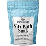 Organic Sitz Bath Soak 32oz (2 lbs) 100% Natural Hemorrhoid Treatment, Postpartum Care Recovery, Fissure Control or Post Surgery. Soothe Relieve Pain and Discomfort with Epsom and Dead Sea Salts, Frankincense, Witch Hazel and Lavender Essential Oil
