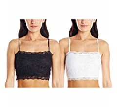 7629358644b0e PURE STYLE Girlfriends Women s Petite Plus Camiflage Lace Half Cami ...