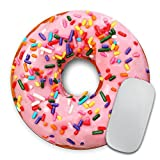 Giant Strawberry Donut with Sprinkles - Circle Mouse Pad - Mousepad - Funny - Coworker Gift Teacher - Realistic Food - Desert - Doughnut