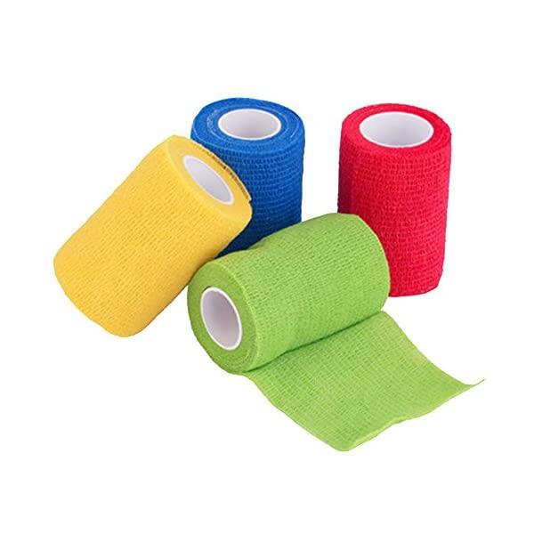 Vendaje cohesivo,12 Vendajes Elásticos Adhesivos Adhesivos Para Camuflaje de La Pegatina de Bicicleta de Caza (A) 4