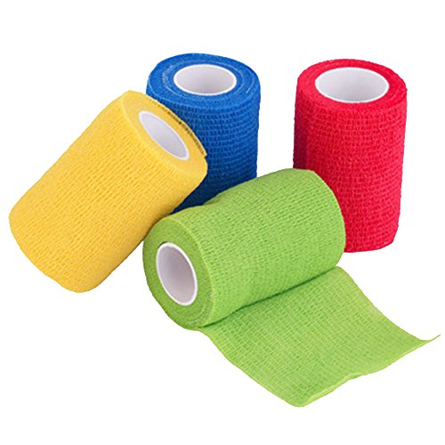 Vendaje cohesivo,12 Vendajes Elásticos Adhesivos Adhesivos Para Camuflaje de La Pegatina de Bicicleta de Caza (B) 3