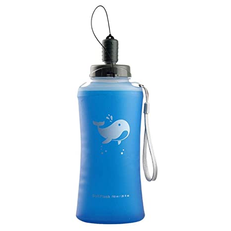 Folding Collapsible Soft Flask Water Bottle BPA Free  Runinng Jogging Hydration