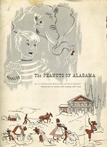 - 1951 Hotel New Yorker Menu The Peanuts of Alabama Negroes Elephant New York City