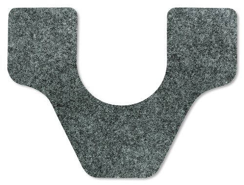 WizKid Fiber Toilet/Commode Mat, 27'' Width x 21-1/2'' Length x 1/4'' Thickness, Grey (Pack of 4)