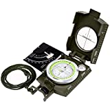 Sportneer Multifunction Compass with Carrying Bag, Waterproof and Shakeproof, Army Green