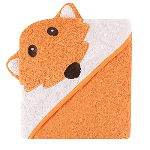 Luvable Friends Animal Face Hooded Towel, Fox (Cat Towel Baby Hooded)
