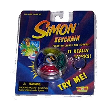 Simon Keychain Mini Hand-held Game Just Like the Original: Amazon ...