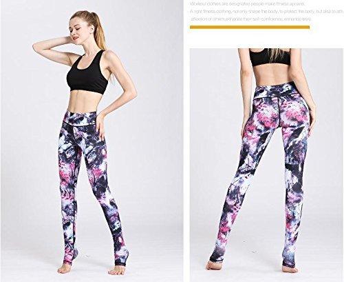 Stampa Lunghi Donne Cintura Picture Esecuzione Yoga Tratto Del In Gambali Sport A Metà As Inchiostro Di Fitness Pantaloni Nbe Collant xEwq766