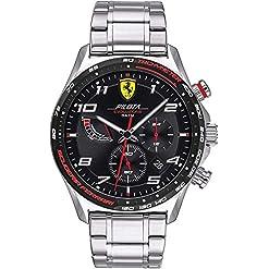 Scuderia Ferrari Homme Chronographe Quartz Montre avec Bracelet en Acier Inoxydable 830720 20