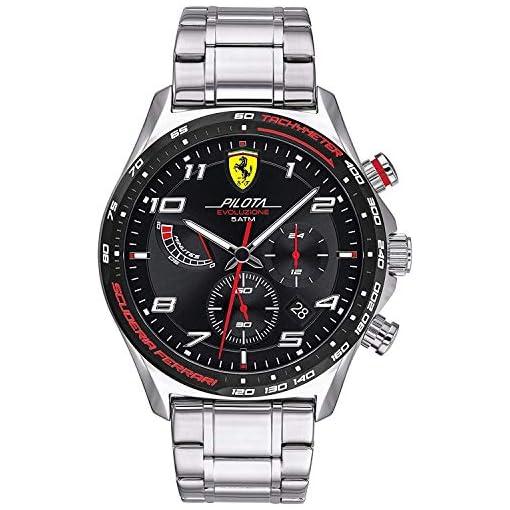 Scuderia Ferrari Homme Chronographe Quartz Montre avec Bracelet en Acier Inoxydable 830720 1