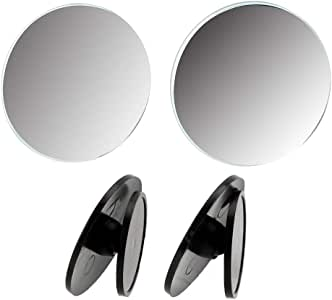 iTimo 2Pcs/Set 360 Degrees Wide Angle Car Rearview Mirror for Car Vehicle Side Blindspot, Small Round Convex Mirror