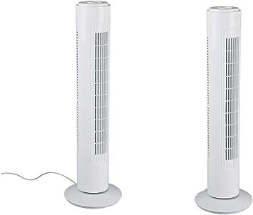 Juego de 2 ventiladores de torre de 73 cm de alto y 12 cm de ...