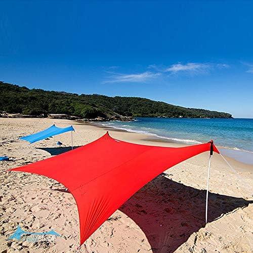 Yaoaomon Sombrilla de Playa Carpa con Bolsas de Arena Anclas Polos ...