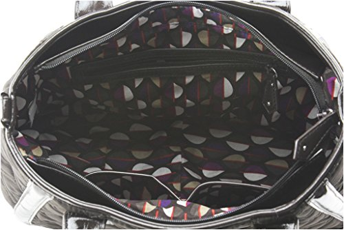 In Trapeze Satchel Vera Microfiber Trimmed Bradley Espresso EAqxfI
