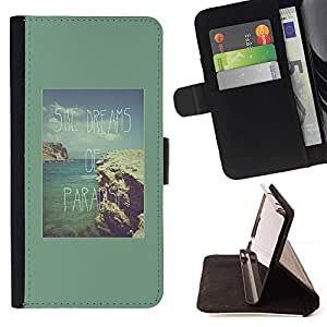 Momo Phone Case / Flip Funda de Cuero Case Cover - Vacances Tropical Sun - HTC DESIRE 816