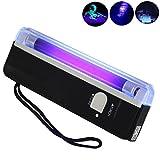 Iuhan Handheld UV Black Light Torch Portable Blacklight with LED (Black)