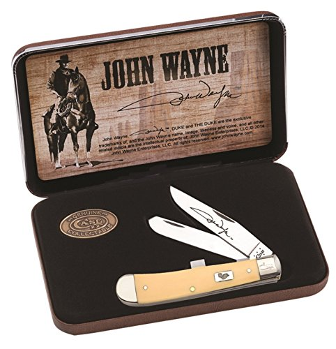 Commemorative Trapper - Case Cutlery CA10688 John Wayne Commemorative Trapper Gift Set Hunting Knives