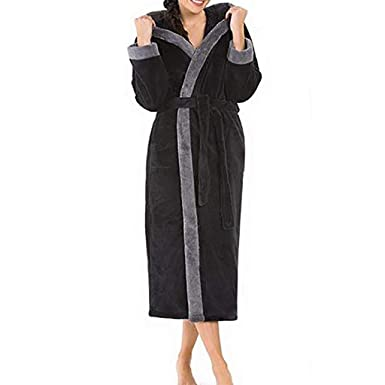 2019 New Women s Winter Plush Shawl Hooded Lengthened Long Sleeved Thicken  Kimono Robe Homewear Bathrobe Slee 83075d63f