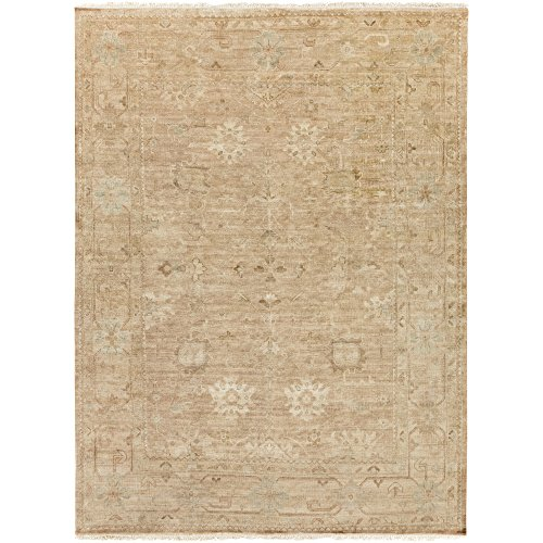 Surya Hillcrest HIL-9012 Classic Hand Knotted 100% New Zealand Wool Slate Gray 8' x 11' Modern Vintage Area - 811 Biscotti
