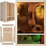Repiterra Terrarium reptiles & batraciens en bois OSB - facile à monter - Aeration sur les cotés - 60x120x60cm